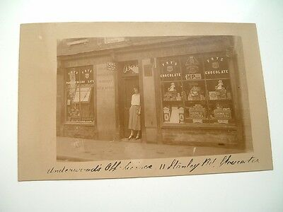 Gloucester early RP  featuring 'Underwoods' off licence, 11 Stanley Road,