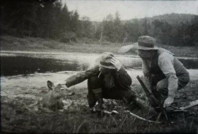 16mm Home Movie ~ 1920's Rescuing a Deer From Mud