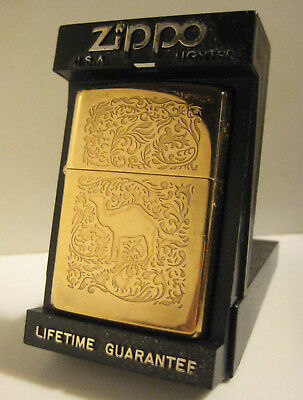 1995 Full Size Zippo Camel Gold Western 2 Sided Design  Unfired Light Handling