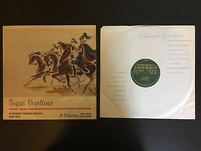 Suppe Overtures, Henry krips, Columbia LP 33SX 1053. Philharmonia Promenade.