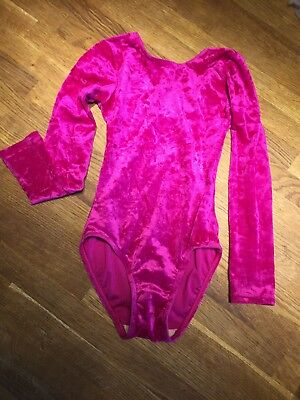 "The Zone girls electric pink leotard size 26"" with scrunchie included!"