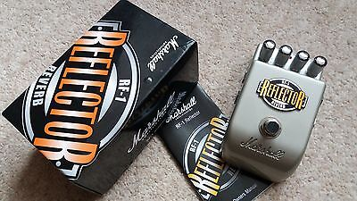 Marshall RF-1 Reflector Reverb Guitar Effects Pedal - boxed with instructions