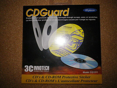 CDGuard CD / DVD Protective Sticker 3 Packs Total 30 Stickers