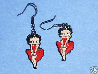 BETTY BOOP  'classic Marilyn Monroe ' pose - earrings , ear rings GIFT BOXED