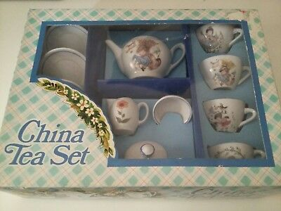 Vintage Looking Childrens China Tea Set by Playmakers