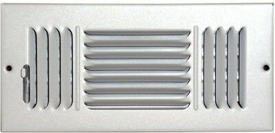 SPEEDI-GRILLE 4 X 10 Ceiling Sidewall Vent Register White 3 Way Deflection New