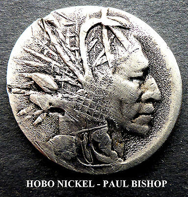 Hobo Nickel #hn1236    By Paul Bishop I'm Listing 7 New Hobo's In The Auction A