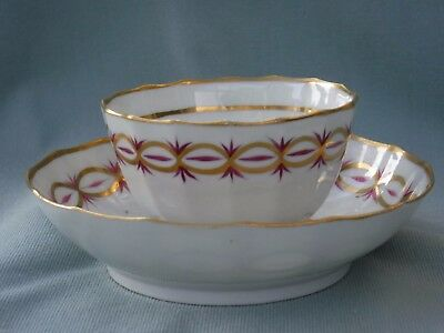 New Hall teabowl and saucer, pattern 89