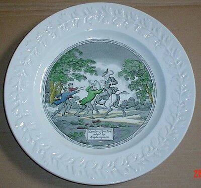 Adams Doctor Syntax Stopt By Highwaymen 10 1/2 Inch Plate