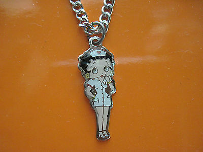 NURSE BETTY - BETTY BOOP --  necklace GIFT BOXED