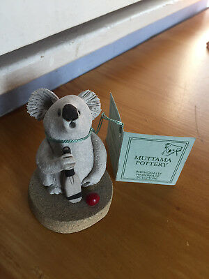 Koala playing cricket by Muttama Pottery Australia exquisite whimsical sculpture