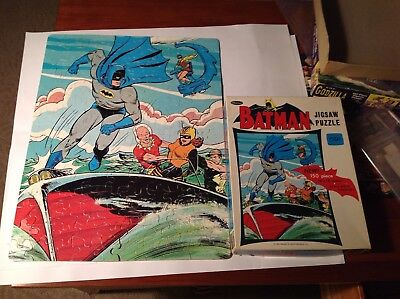 Vintage The Batman 1966 In Box  Monster Puzzle Real Nice