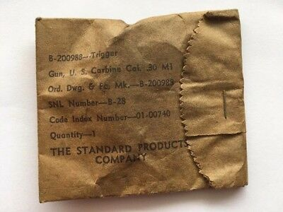 WW2 M1  M2  US Carbine Trigger  Standard Products  Marked: R in circle UNUSED NO