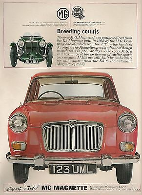 MG Magnette Saloon £892 Safety Fast Breeding Counts 1964 Vintage Advert
