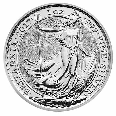 2017 Silver Britannia unc: 1 oz Troy ounce Fine Silver Coin Bullion Uncirculated