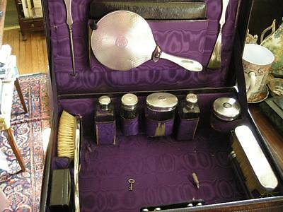 Fab Mappin & Webb, London Travelling Case with Sterling Silver c.1925