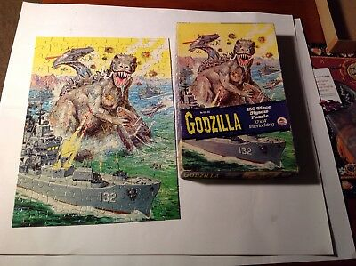 Vintage Godzilla In Box  Monster Puzzle Real Nice