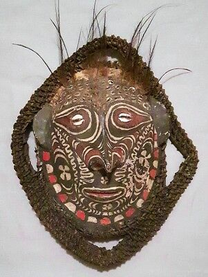 Exquisite Vintage Papua New Guinea Sepik River Turtle Shell Tribal Mask, Nice!