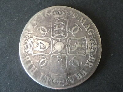 1679 Charles II Solid silver crown. 4th bust. Good grade. 30.05 Gms