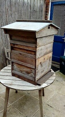 bee hive National deep with supers queen excluder brood box etc.