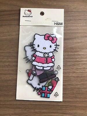 New Christmas Hello Kitty Iron On Transfers H&M Sealed 3 Pack Xmas Theme