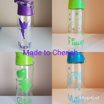 Personalised Themed Drinks Bottles. Lots Of Designs. Unicorn. Fairy. Dinosaur