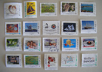 Lot 20 Timbres Personnalises Collector France Oblitere