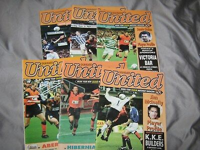 6 Dundee United Home Programmes from 96/97