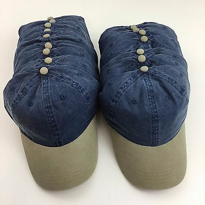 (19) Pigment Dyed Washed Cotton Twill Caps Hats Blanks Otto 18-203 Blue & Khaki