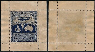 Great Britain - Australia 1919, First Aerial Post Commemor. Poster Stamp.  #t995