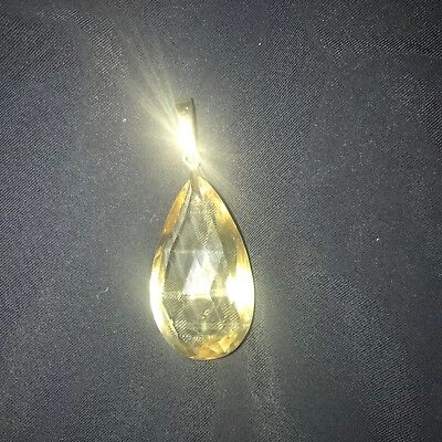 stunning citrine pendant on 9ct clasp