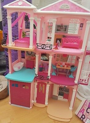 barbie/dolls dreamhouse scooter, car and speedboat