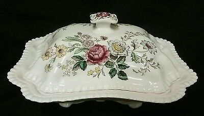 Rare Copeland Spode Romney Gadroon Shaped Covered Dish/Bowl  - S/228