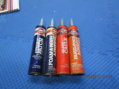 4 Gulf Oil Calk Tubes! Adhesive & Patch Caulking.