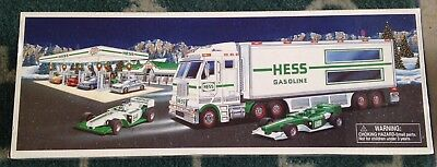 New 2003 Hess Toy Truck and Racecars