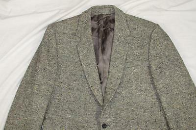 Vtg Foxford Fabric Providence Ireland Made Fleck Blazer Coat Jacket Wool 50s 60s