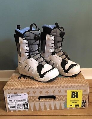 Salomon Ivy Snowboard Boots Woman's UK Size 4.5 Ladies White Snowboarding