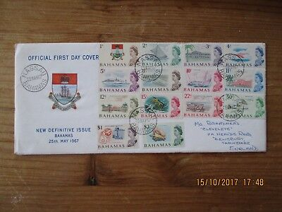 QEII Bahamas 1967 Decimal first day Cover TO $2 SEE SCAN