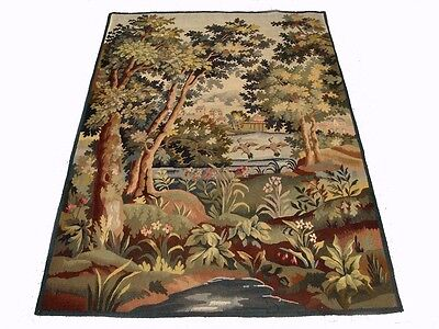 A Beautiful Antique Tapestry with Ducks and River, 1 of 4