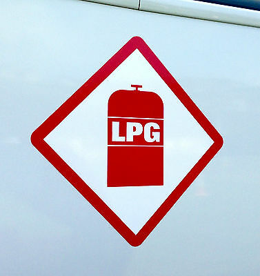 LPG Gas Locker Warning Sticker Sign Caravan Motorhome Campervan 75mm 3""