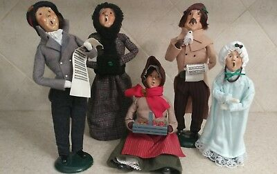 Preowned Byers Choice Christmas Carolers Lot Of Five