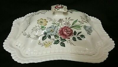 Rare Copeland Spode Romney Gadroon Shaped Covered Bowl/Dish- S/228
