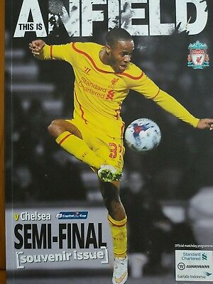 Liverpool v Chelsea league cup semi-final 1st leg 20/1/2015