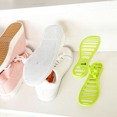 HOT 1 pair Household Portable Closet Storage Shoes Rack Organizer Space Saver HI