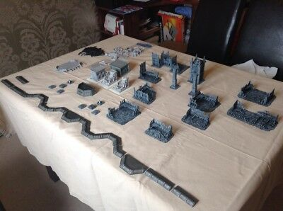 epic 40k scenery, buildings including forge world