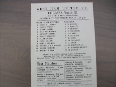 West Ham United Youth v Chelsea Youth FAYC 1979/80