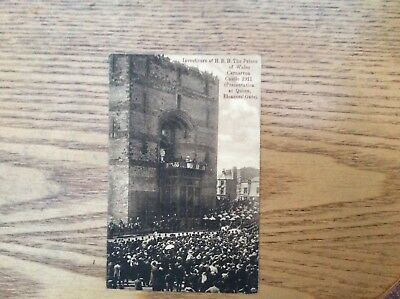 Postcard Investiture of Prince of Wales in Caernarfon Castle 1911