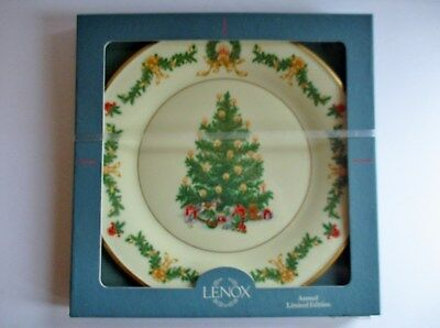 Lenox 1995 Annual Christmas Trees Plate  Austria   New In Sealed Box