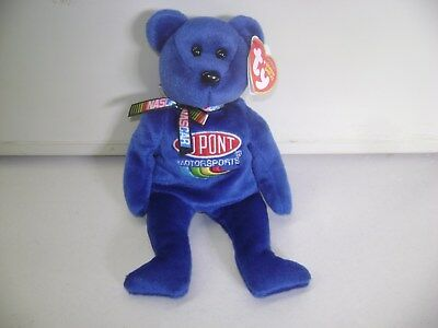 TY BEANIE BABY - JEFF GORDON #24 the Nascar Bear 9 INCH RETIRED CHRISTMAS GIFT