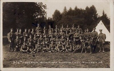 WW1 soldier group 2 / 13th London Regiment Kensingtons North Mimms Musketry Camp